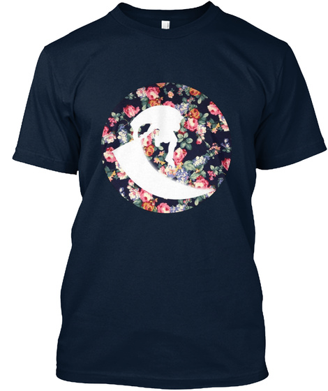 Floral Marth D Air New Navy T-Shirt Front