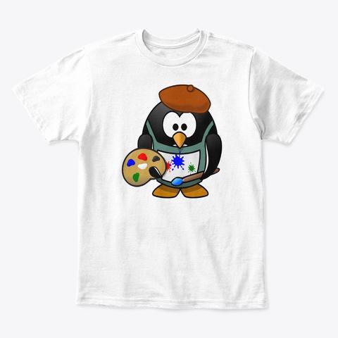 Art Painting Cute Kids T Shirt White T-Shirt Front