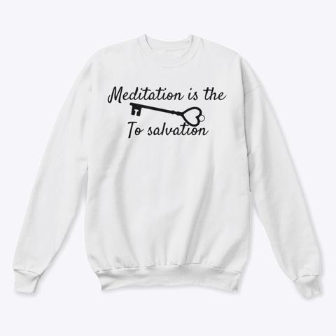 Yoga Meditation Apparel, The Key White  T-Shirt Front