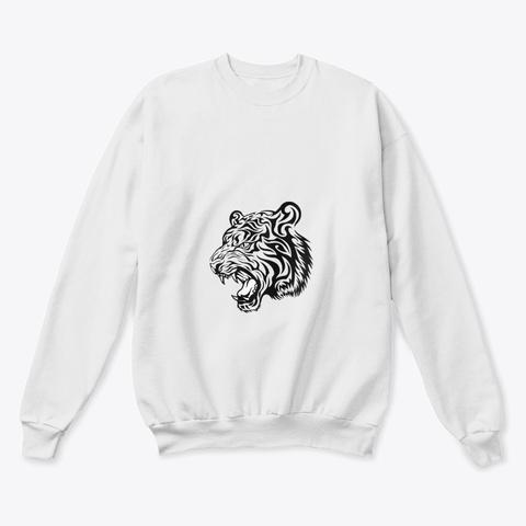 Tiger Spirit White  T-Shirt Front