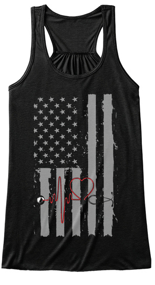 American Nurse Black Women's Tank Top Front