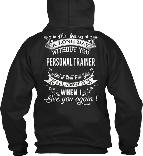 Personal Trainer Black T-Shirt Back