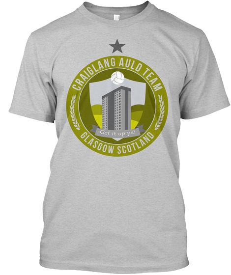 Craiglang Auld Team   Still Game Light Heather Grey  T-Shirt Front