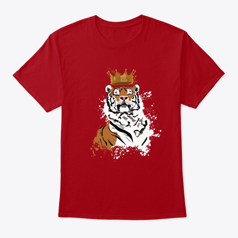 All Tigers Are Kings Deep Red T-Shirt Front