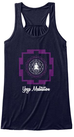Yoga Meditation Midnight T-Shirt Front