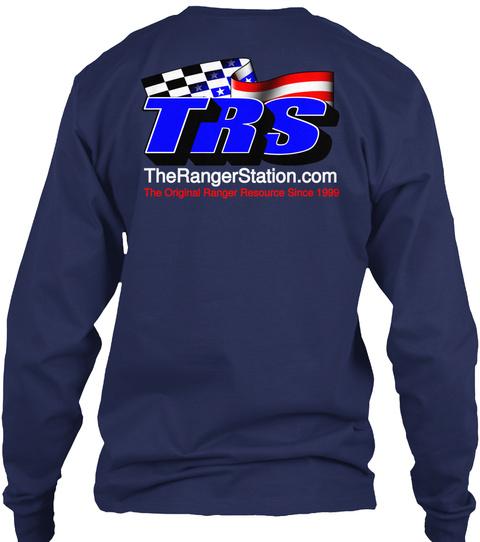 Trs The Ranger Station.Com The Original Ranger Resource Since 1999 Navy T-Shirt Back