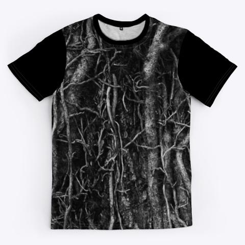 T Shirt: Music Cables Black T-Shirt Front