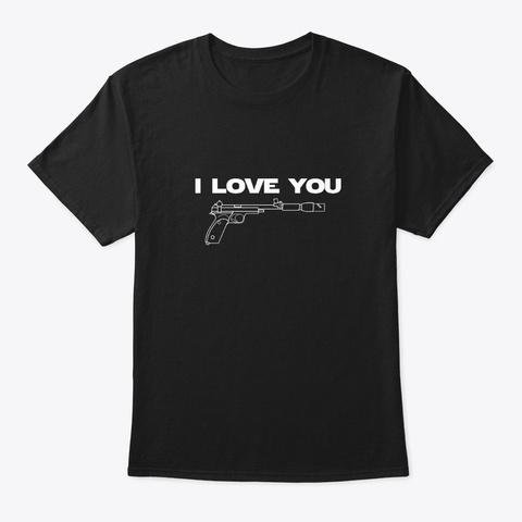 I Love You   Couple T Shirt Black T-Shirt Front