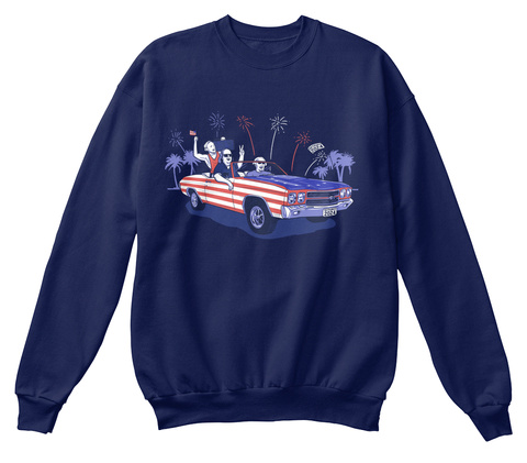 Founding Fathers Navy  Sweatshirt Front