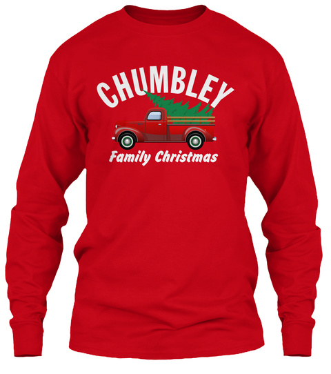 Chumbley Family Christmas Red T-Shirt Front