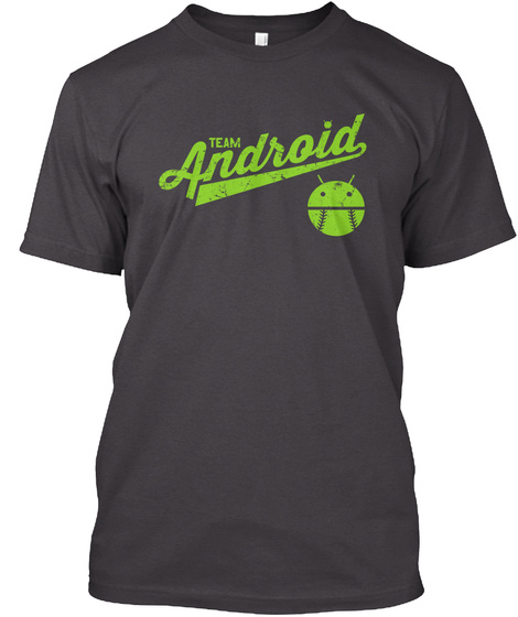 Team Android Heathered Charcoal  T-Shirt Front