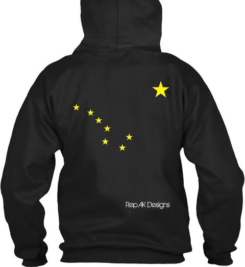 RepAkDesigns Black T-Shirt Back