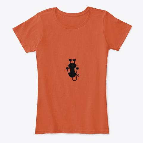 Kitten T Shirt Deep Orange T-Shirt Front