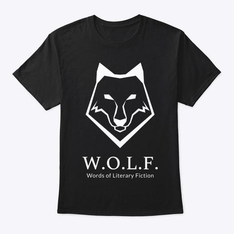 W.O.L.F. Monocrome Black T-Shirt Front