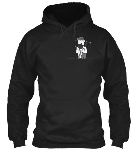 Www.Duckwacker.Com Black T-Shirt Front