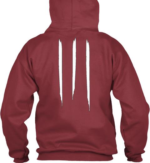 "Promotion Pocket Logo Hoodie ""Digital"" Maroon T-Shirt Back"