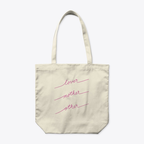 Lover Mother Other   Tote Bag (Pink) Natural T-Shirt Front