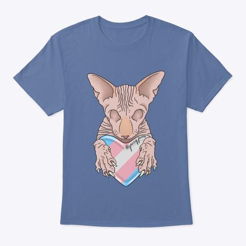 Jazzy ❤️'S Trans Pride Denim Blue T-Shirt Front