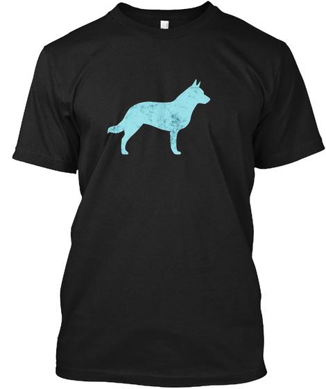 Graphic Australian Cattle Dog Owner Nove Black T-Shirt Front
