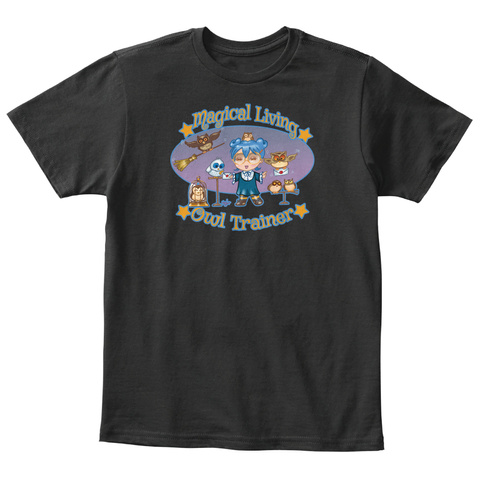 Magical Living 4 Kids By Holly G! Black T-Shirt Front
