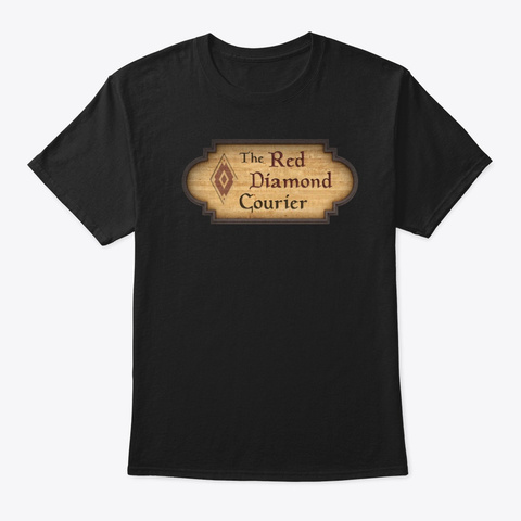 The Red Diamond Courier Black T-Shirt Front