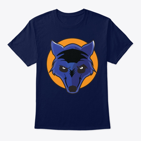 Wolf Logo Tee Navy T-Shirt Front