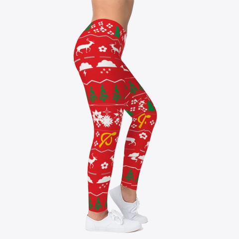 Christmas Leggings Toddler Red T-Shirt Right
