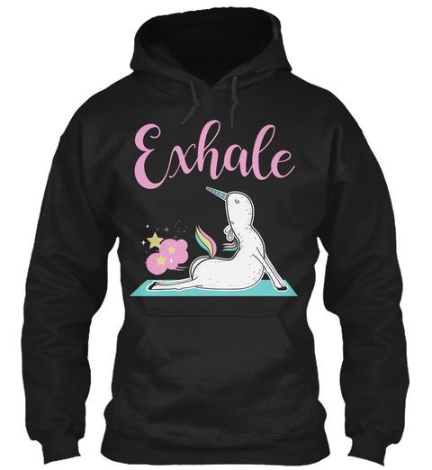 Exhale Black T-Shirt Front