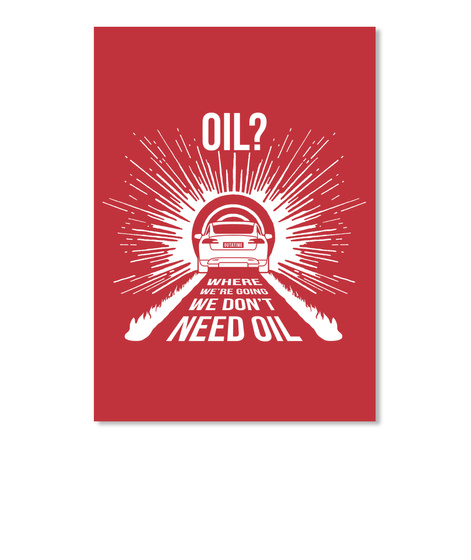 Oil? S Sticker [Usa] #Sfsf Bright Red Sticker Front