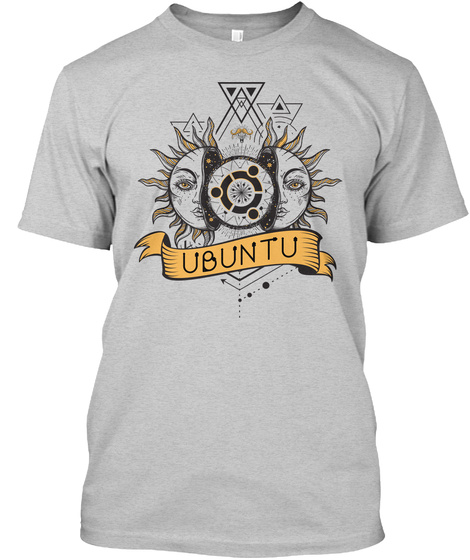 Ubuntu Light Steel T-Shirt Front