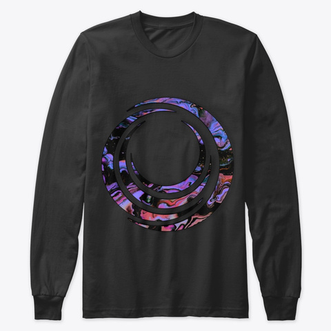 Lifee's Spiral Black T-Shirt Front