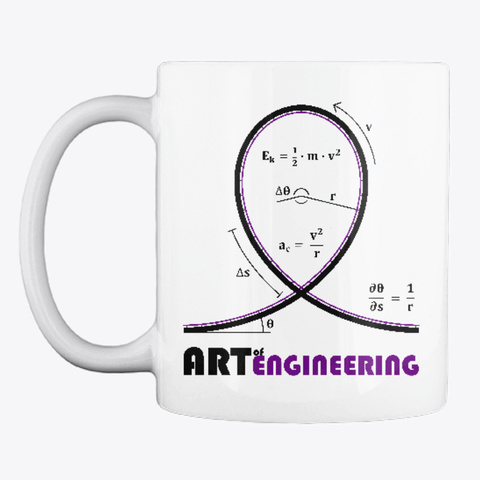 Roller Coaster Loop Mug (Right Handed) White T-Shirt Front