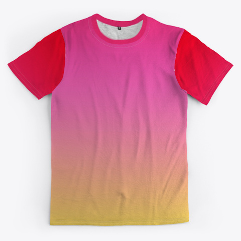 Pink Red Yellow Color Gradient Standard T-Shirt Front