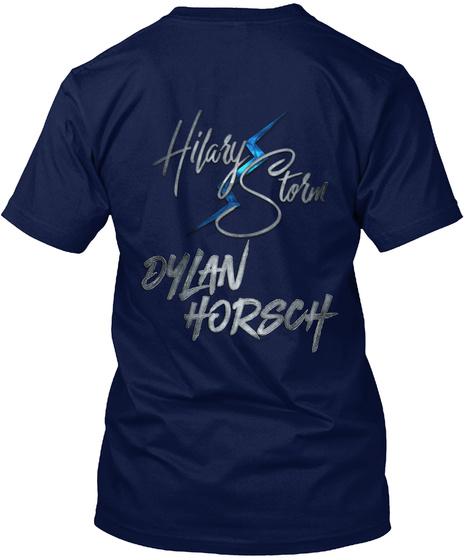 Hilary Storm Dylan Horsch Navy T-Shirt Back