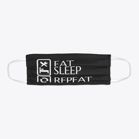 Bdo Eat Sleep Enhance Repeat Black T-Shirt Flat