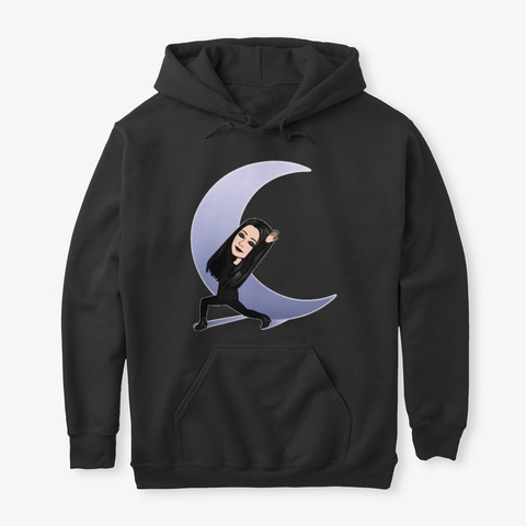 The Gothic Moon Hoodie Black T-Shirt Front