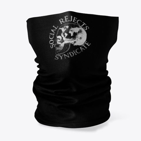Social Rejects Syndicate Merch Black T-Shirt Front
