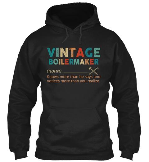 Vintage Boilermaker Black T-Shirt Front
