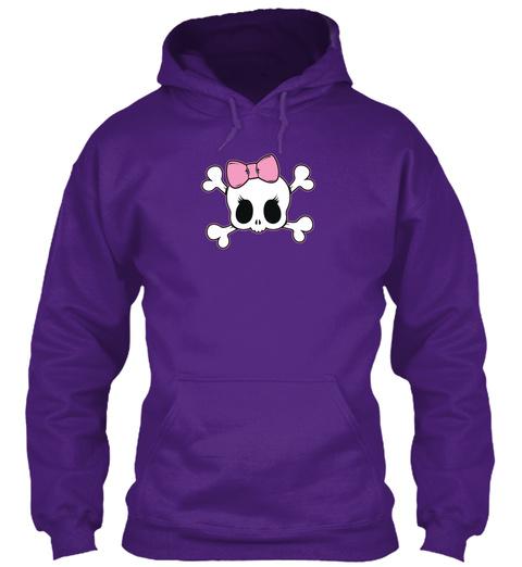 Truckers Wife Indiana Hoodie/Tee Purple Camiseta Front