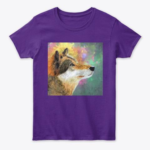 She Wolf Purple T-Shirt Front