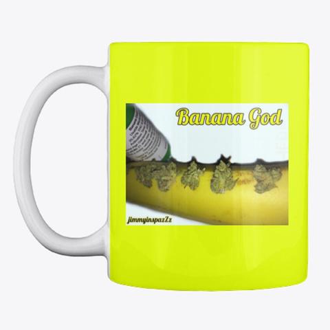 Duo Banana Cannabis Mug Neon Yellow Mug Front