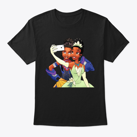 Black Queens Funny T Shirt Black T-Shirt Front