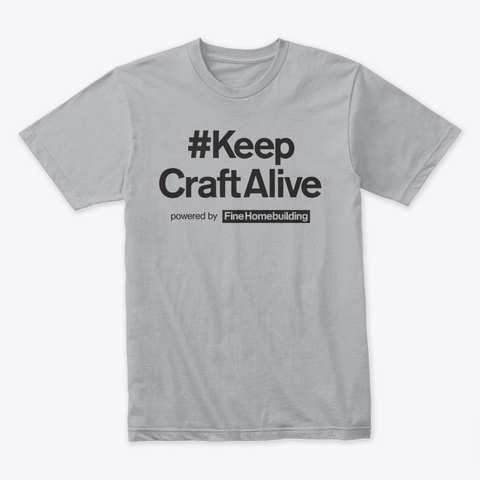 #Keep Craft Alive Basic Logo Series Heather Grey T-Shirt Front