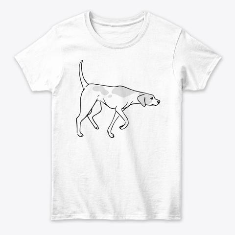 English Pointer White T-Shirt Front