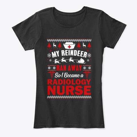 Radiology Nurse Ugly Christmas Sweater Black T-Shirt Front