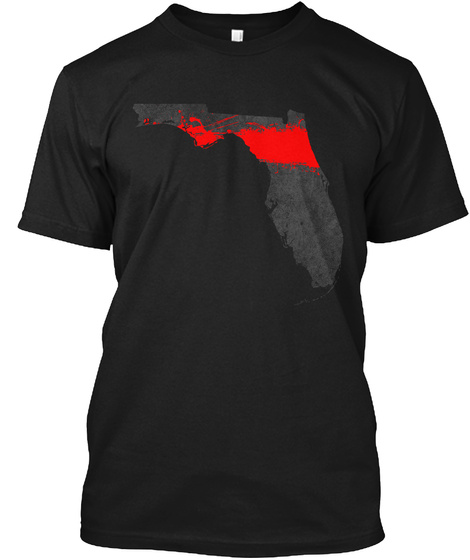 Florida Red Line Onyx Black T-Shirt Front