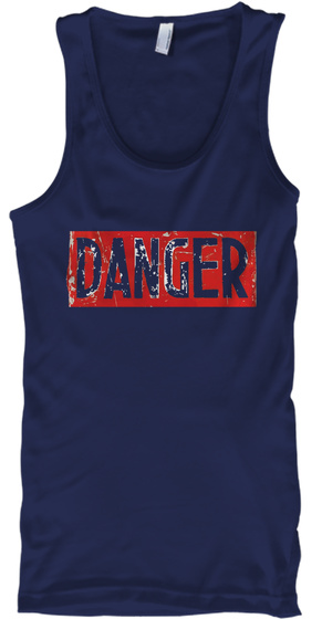 Danger Navy T-Shirt Front