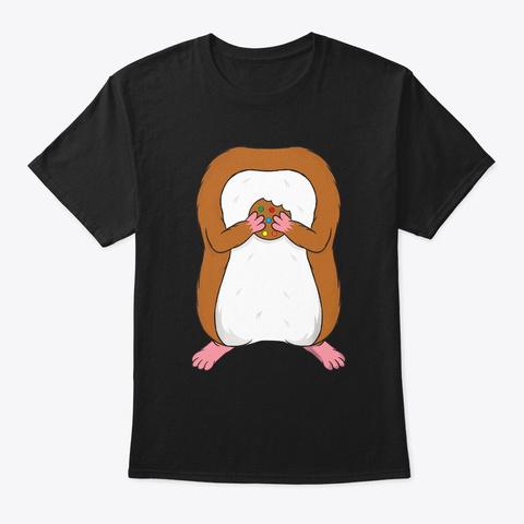 Funny Hamster Body Headless Halloween Black T-Shirt Front