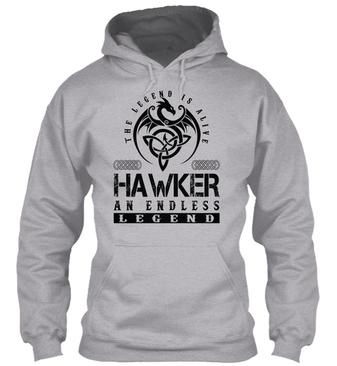 Hawker   Legends Alive Sport Grey T-Shirt Front