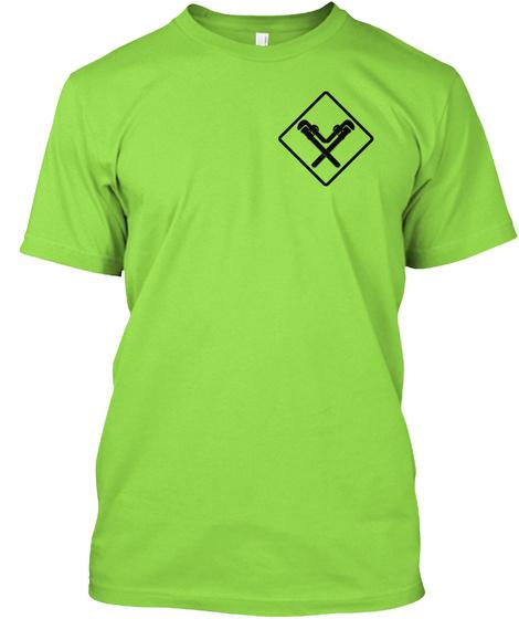 Sprinkler Fitter Safety Lime T-Shirt Front